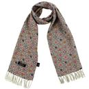 tootal scarves daisy chain floral rayon scarf stone