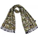 tootal double paisley rayon scarf parka green