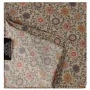 tootal scarves mens daisy chain floral print rayon pocket square stone