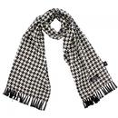tootal rayon houndstooth scarf black/white