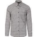 tootal mens oversized houndstooth long sleeve shirt ivory black