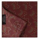 tootal scarves mens geometric leaf print rayon pocket square burgundy