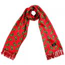tootal paisley print silk scarf red