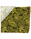 tootal floral paisley pocket square burgundy gold