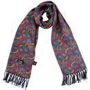 tootal floral paisley silk scarf burgundy
