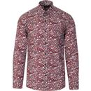 tootal mens bold paisley print long sleeve shirt blue red