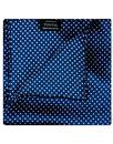 Tootal Scarves Pocket Square Navy Polka Dot