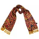 tootal rich paisley silk scarf oxblood