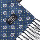 TOOTAL Retro 60s Mod Silk Floral Scarf in Navy