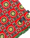 Tootal Scarves Retro Mod Red Green Tile Scarf