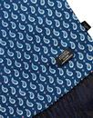Tootal Scarves Retro Mod Small Paisley Navy Scarf