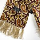 TOOTAL 60s Mod Jagged Paisley Silk Scarf (Oxblood)