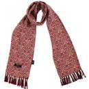 tootal scarves antique tile print fringed scarf brick