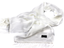 TOOTAL Retro 60s Mod Plain Fringed Silk Scarf (AW)