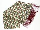 TOOTAL SCARF RETRO MOD PAISLEY 60S SILK SCARF CRM