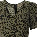 TRAFFIC PEOPLE Retro 70s Leopard Print Playsuit