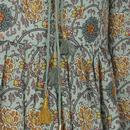 Boho Blues TRAFFIC PEOPLE 60s Floral Mini Dress G