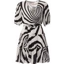 traffic people womens felicitous contrast swirls tiered dress black white