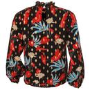 Choir TRAFFIC PEOPLE Ruffle Collar Floral Shirt