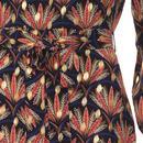 Cusp TRAFFIC PEOPLE Retro 60s Floral Leaf Dress