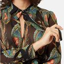 Maisie TRAFFIC PEOPLE Feather Print Retro Blouse