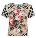 Minnie TRAFFIC PEOPLE Retro 70s Floral Border Top