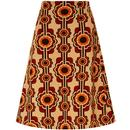 TRAFFIC PEOPLE Corrie Bratter 60s A-Line Skirt