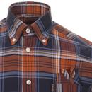 TROJAN RECORDS Mod Ska Madras Check Shirt TAN