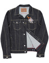 TROJAN RECORDS Retro Mod Revival Raw Denim Jacket