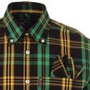 TROJAN RECORDS Mod Ska Jamaica Plaid Check Shirt