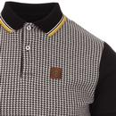 TROJAN RECORDS Retro Mod Dogtooth Tipped Polo Top