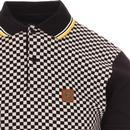 TROJAN RECORDS Ska Checkerboard Panel Mod Polo Top