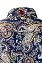 TROJAN RECORDS 60s Psychedelic Paisley Mod Shirt N
