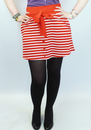 TULLE RETRO MOD 60s NAUTICAL STRIPE SKIRT SKIPPER
