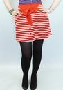 Skipper TULLE Retro Mod Striped Mini Skirt