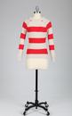 Block Stripe TULLE Keyhole and Tie Retro Jumper R