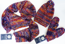 UCLA Retro Seventies Indie Hat Glove Scarf Set
