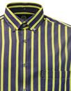 VIYELLA Retro Mod Sixites Breton Stripe Shirt