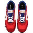 Voyager WALSH Made in England Retro Trainers R/W/B