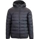 weekend offender frazier quilted puffer jacket black