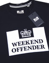 Prison WEEKEND OFFENDER Retro Casuals Tee Navy