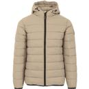 weekend offender mens frazier retro puffer quilted hooded zip jacket stone