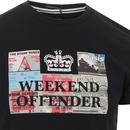 Tickets WEEKEND OFFENDER Retro Gig Logo Tee