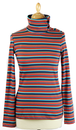 Soldaat WHO'S THAT GIRL Retro Stripe Roll Neck Top