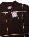 WIGAN CASINO Northern Soul Check Knit Polo Top (C)