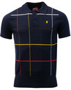 WIGAN CASINO Northern Soul Check Knit Polo Top (N)