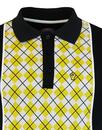 WIGAN CASINO Mod Argyle Panel Piped Polo Top (G)