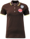 WIGAN CASINO Womens Retro Mod Badged Polo