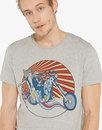 Wrangler Jeans retro 70s Easy Rider Biker Tee