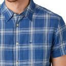 WRANGLER 1 Pocket S/S Indigo Dye Check Shirt